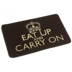 """40x60 cm-es etetőtál alátét és lábtörlő """"Eat Up and Carry On"""""""