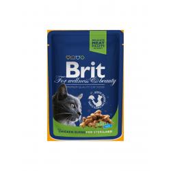 Brit Premium Cat tasakos csirke szeletekkel