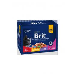 Brit Premium Cat tasakos családi tál 12x100g