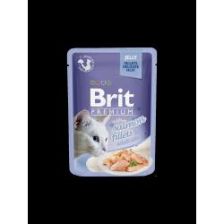 Brit Premium Cat tasakos zselés cicaeledel lazacfilével