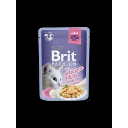 Brit Premium Cat tasakos zselés cicaeledel csirkefilével